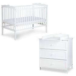 klupś zestaw mebli radek iii - łóżko + komoda z przewijakiem