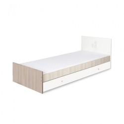 klupś łóżko z szufladą safari zajączek