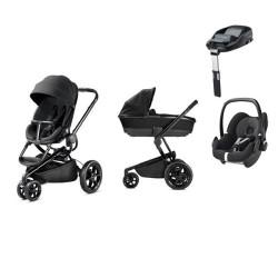 quinny wózek mood 4w1 + maxi cosi pebble + baza familyfix