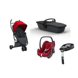 quinny wózek zapp flex 4w1 + maxi cosi pebble + baza familyfix