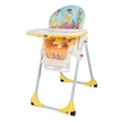 chicco krzesełko do karmienia polly easy z kółkami