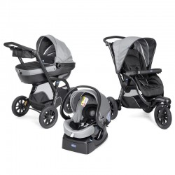 CHICCO WÓZEK ACTIV3 4W1 DARK GREY