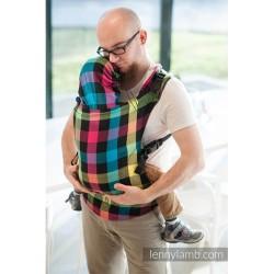 lennylamb nosidełko ergonomiczne diamentowa krata rozmiar baby