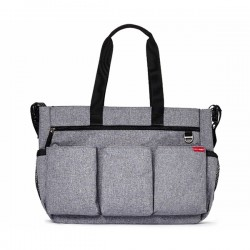 SKIP HOP TORBA DOUBLE SIGNATURE HEATHER GRAY