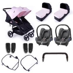 baby monsters wózek easy twin 3.0s + gondole + cabriofix