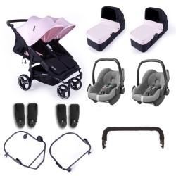 baby monsters wózek easy twin 3.0s + gondole + pebble plus
