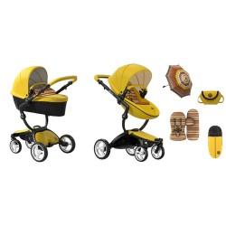 mima wózek xari yellow 2w1 limitowana edycja + akcesoria