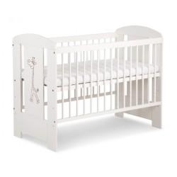 klupś łóżeczko safari żyrafka białe 120x60