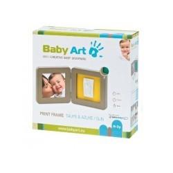 BABY ART PRINT FRAME TAUPE/AZUR/SUN