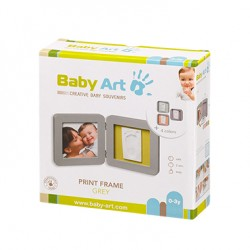 BABY ART PRINT FRAME MT GREY