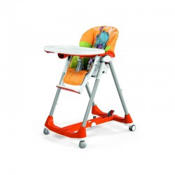 peg-perego krzesełko do karmienia prima pappa diner hippo arancio
