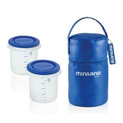 miniland pojemniki hermetyczne 2x 250ml