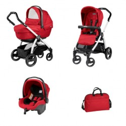 PEG-PEREGO BOOK S XL SPORTIVO POP-UP 3W1 BLACK-WHITE GEO-RED