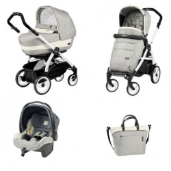 PEG-PEREGO BOOK 51 ELITE 3W1 BLACK WHITE LUXE OPAL