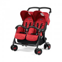 PEG-PEREGO WÓZEK BLIŹNIACZY ARIA SHOPPER TWIN GEO RED