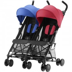 BRITAX & ROMER WÓZEK HOLIDAY DOUBLE RED BLUE