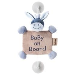nattou alex & bibou zawieszka z przyssawkami baby on board osiołek alex