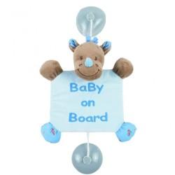 nattou arthur & louis zawieszka z przyssawkami baby on board nosorożec louis 20 cm