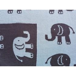 lula design kocyk słoń granatowy