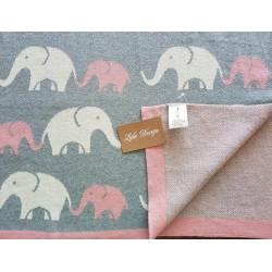 lula design kocyk słoń różowy