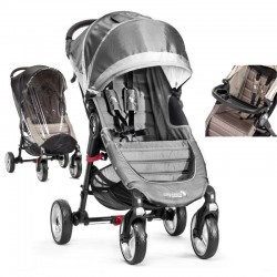 baby jogger wózek city mini single 4-kołowy + folia + tacka