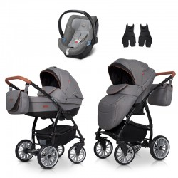 euro-cart wózek passo pro + fotelik aton 5 3w1