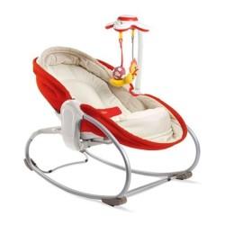 tiny love leżaczek - bujaczek - krzesełko 3w1 czerwone