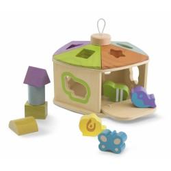 chicco sorter  drewniany domek dla zwierząt