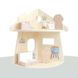 oribel drewniany domek - akcesorium do stolika interaktywnego portaplay