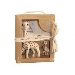 vulli  zestaw żyrafa sophie z breloczkiem i torebką na pamiątki