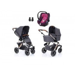 abc design wózek salsa 4 air diamond spacial edition 3w1 z fotelikiem cybex aton 5