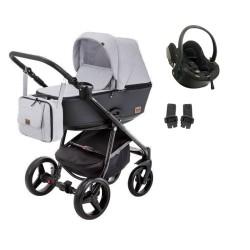 damex wózek reggio premium 3w1 z fotelikiem besafe izi go