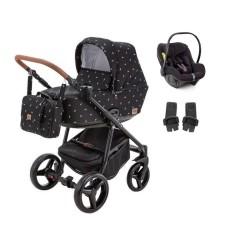 adamex wózek reggio deco 3w1 z fotelikiem avionaut pixel