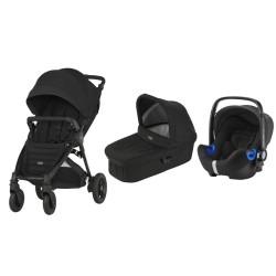 britax & romer wózek b-motion 4 plus + gondola + fotelik baby-safe i-size