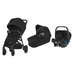 britax & romer wózek b-motion 4 plus + gondola + fotelik baby-safe plus shr ii