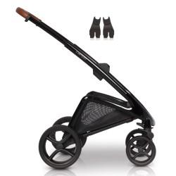 euro-cart stelaż do wózka z adapterami wysokimi do fotelików samochodowych