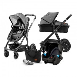 kinderkraft veo wózek 3w1 black grey