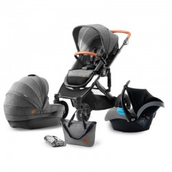 kinderkraft prime wózek 3w1 gray