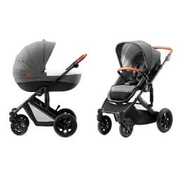 kinderkraft prime wózek 2w1 gray