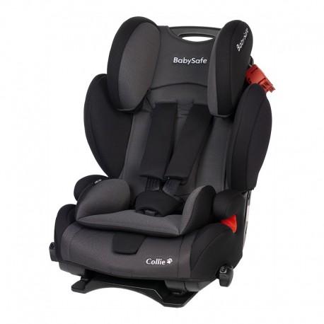 babysafe collie fotelik samochodowy szaro-czarny