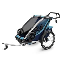 thule chariot cross 1 przyczepka rowerowa niebieski-granatowy