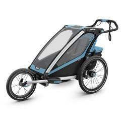 thule chariot sport 1 przyczepka rowerowa niebiesko-czarna
