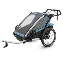 thule chariot sport 2 przyczepka rowerowa niebieski czarny