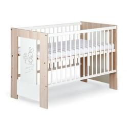 klupś łóżko safari zajączek 120x60