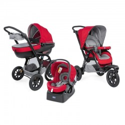 chicco trio activ3 wózek 3w1 red berry