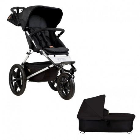 mountain buggy wózek terrain onyx + gondola plus czarna