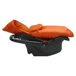 kutnik śpiworek niemowlęcy do fotelika pomarancz
