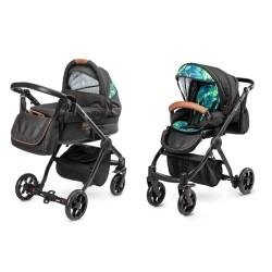 camini yuna wózek 2w1 black