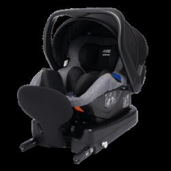 axkid modukid infant fotelik samochodowy + baza grey