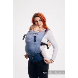 lennylamb nosidełko ergonomiczne lennygo mała jodełka ombre niebieski rozmiar baby